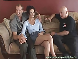 Brunette Wife in trio