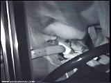 Middernacht Seksuele Paar neuken in de auto